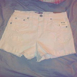 Brand new never won Aeropostale white jean shorts